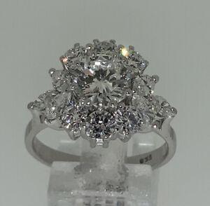 Imposanter  Ring  Diamanten 3,49ct. Gold 18kt 7,5g. Gr.58 Vintage