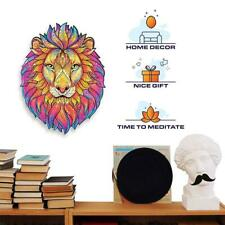 Wooden Cartoon Lion Design Adult Kids Toy Home Decor Puzzle Jigsaw Pieces Gift