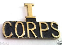 """I CORPS """"AMERICA'S CORPS"""" US ARMY Military Hat Pin 15070 HO"""