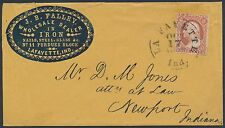 J.B. FALLEY IRON NAILS GLASS DEALER LAFAYETTE, IND. BLUE CAMEO COVER BR3036
