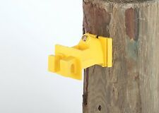 Wood Post 2 inch Offset Insulator for Poly, Wire, Braid Fence 200 Pk w Nails