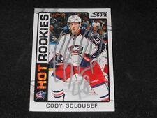 Columbus Blue Jackets Cody Goloubef Signed 2012/13 Score Card #527  TOUGH  SR
