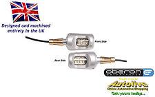 "Oberon billet 1"" bar end LED indicators/turn signals/winkers (1 pair-Silver)"