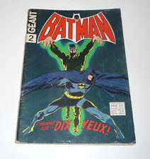 SAGEDITION   Batman Géant Série 1     de 1972    N° 2