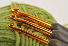 4.5 mm Tulip etimo de agarre acolchado Aluminio Oro Crochet Gancho