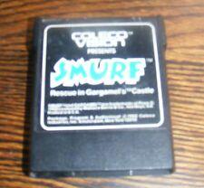Vintage Coleco Vision Presents SMURF Rescue in Gargamel's Castle Game Cartridge