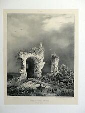 Lithographie 1828 Ruines Château Oiselay FRANCHE-COMTÉ Voyages Pittor. Taylor