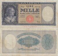 1947 Italia Banconota Lire 1000 Busto Italia D.M. 20-03-1947 NC Vedi Foto