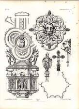 Gothic OSNABRUCK CATTEDRALE CROCE PROCESSIONALE Maniglia Porta di Bronzo