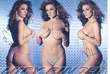 LUCY PINDER Signed 12x8 Photo PAGE 3 Glamour MODEL COA