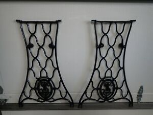 Antique SINGER Treadle Sewing Machine Base Legs Cast Iron Steam Punk  #20