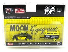 1:64 M2 Machines *MiJo* MOONEYES 1953 VW Beetle & Trailer Set CHASE *NIP*
