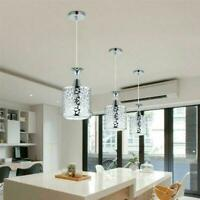 Hanging Lamp Iron Ceiling Light Dining Room Chandelier Decor Y7E6