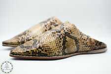 Snakeskin Moroccan Slippers Traditional Handmade snake shoes naturally Leather