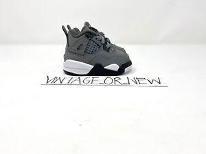 DS Nike Air Jordan IV 4 Cool Grey 2019 Retro BT Toddler BQ7670-007 sz 2C