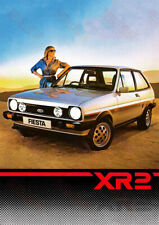 Ford XR2 Car Advertising Poster - (A3)