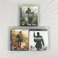 Call Of Duty Modern Warfare 1 2 3 trilogy bundle lot PlayStation 3 PS3 CIB
