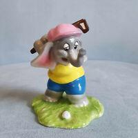 Vtg Schmid Elephant Golf Ceramic Sport-Nics Porcelain Figurine Swinging Cedric