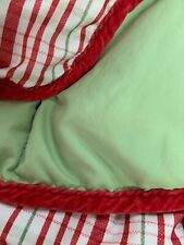 "Lightweight Crib Goose Down Comforter Pink Velvet Plaid & Pea Green 64""X 48"""