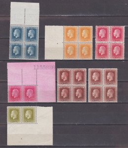 New Zealand 1915 Collection MNH & Mint Mounted P14 x 13 1/2  BLOCKS & PAIRS