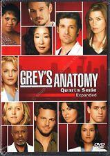 GREY'S ANATOMY STAGIONE 4 - COFANETTO 5 DVD NUOVO!