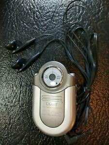 "Coby CX-7 Mini Portable Pocket AM/FM Radio Headset 3-1/2"" x 2-1/8"" Bass Boost"