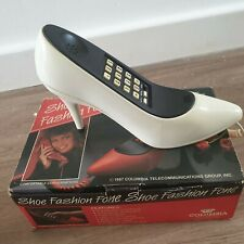Novelty Phone Shoe Vintage 1980s Fully Working Pushbutton  Boxed Retro Cool