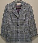 Vtg-Pendleton Blue Gray Plaid Virgin Wool Jacket/Blazer USA Made-12/14/16-L