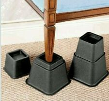 Bed Risers Furniture Lift Set Of 8 Heavy Duty Lifts Raise Height Lifters NEW