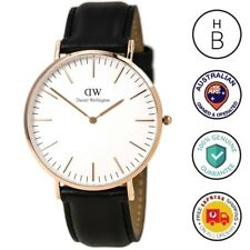 New Daniel Wellington Mens Watch Classic Sheffield Rose Gold Leather 0107DW