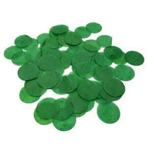 20g Circle Tissue Paper Party Forest Green Confetti Dots Table Scatters Sprinkle