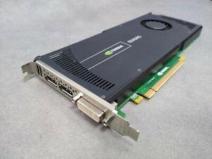 HP Nvidia Quadro 4000 2GB DDR5 Video Card 2 x Display Port , 1 x DVI