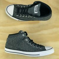 391a79e2d544 Converse Chuck Taylor All Star High Street Black White Grey Shoes 161515F  Size