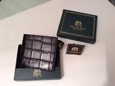 BNWT 100% Auth William Hunt, Mens Bilfold Smart Black Leather Wallet. RRP £75.00