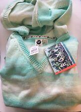 NWT Roxy Women's Hooded Cotton Sweater Sea Green Surf Knit