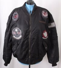 Avirex Rare Military Bomber Flight Fighter Patches Jacket Coat Men's 2XL