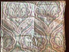 Nicole Miller Kids Curtain Window Panel Paisley Purple Green Lavender Mint Teal