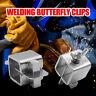 8pcs Welding Butterfly Clip Butt Welding Clamps Holder Positioner Fixture Kit