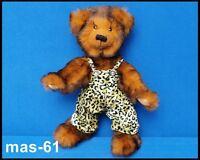 TEDDY TEDDYBÄR MIT HOSENANZUG STOFFTIER 28 CM BEAR