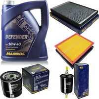 Inspektionspaket Filter Set MANNOL 10W40 Motoröl+ Opel Astra G CC 10752614