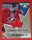 MARC ANDRE FLEURY ITG GOING FOR GOLD GAME USED JERSEY 2007 TEAM CANADA WORLD JRS