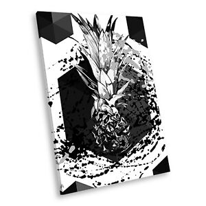 AB1327 Funky Black White Abstract Portrait Canvas Picture Prints Small Wall Art