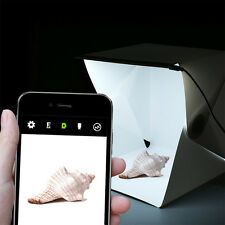 Mini Photo Studio Box Portable Foldable Photography Cube + built-in White Light