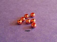 fly tying brass beads.Copper.25 beads.6 sizes available.Combine Shipping