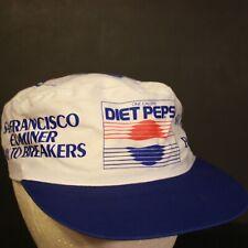 Vintage Diet Pepsi Painters Cap Hat San Francisco Bay Breakers Retro White