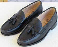 10.5 D | Allen Edmonds Maxfield Men Black Leather Slip On Tassel Loafers