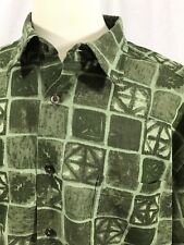 Dockers - Men's Short Sleeve Button Front Vacation Shirt - Size XL, Green