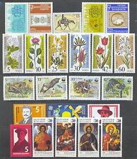 1989 Bulgaria,Bulgarie,Bulgari en, Year set,Jg= 75 stamps + 32 s/s,Cv$375,Mnh