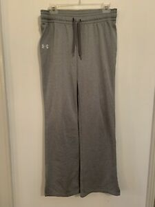 Under Armour Women's Athletic Sweat Pants Gym Yoga Semi-Fitted Medium M Gray