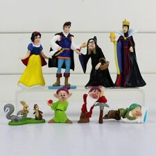 8pcs/lot Princess Snow White and the Seven Dwarfs Queen Witch Prince Figure